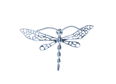 Dragonfly, Sterling Silver Pin D009