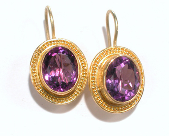22k Gold granulation with Amethyst E002 (SOLD)