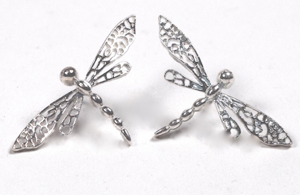 Sterling Silver Dragonflies E015