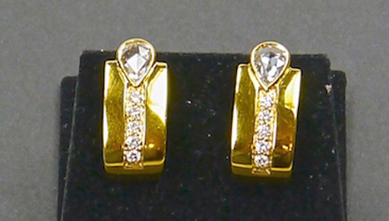 18k Gold with Diamonds E019 (SOLD)