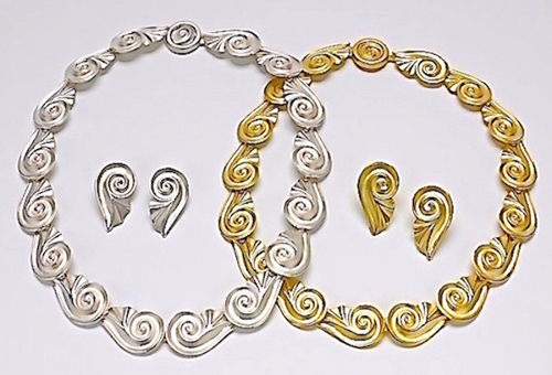 Athena: 18K Gold or Sterling Silver w/matching Earrings NE010
