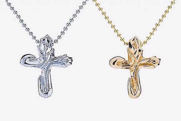 14k Gold or Sterling Silver Lily cross  PN002