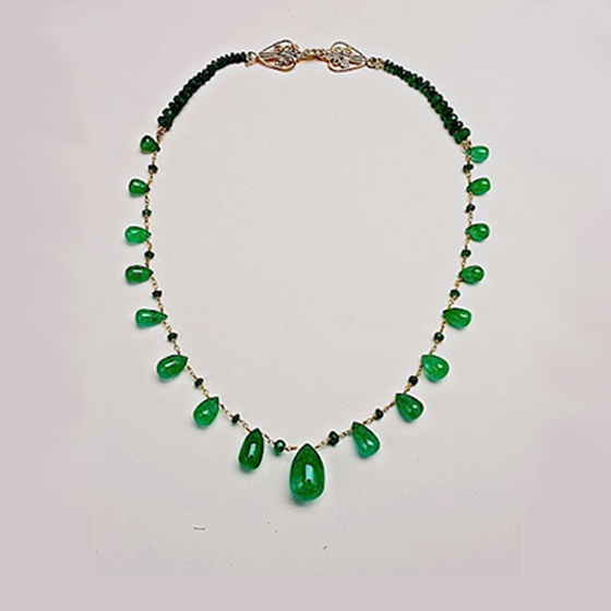Emerald and 18k gold necklace (sold)