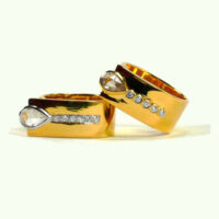Evy ring 18 karat with diamonds, special order