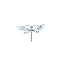 Sterling silver medium dragon fly pin