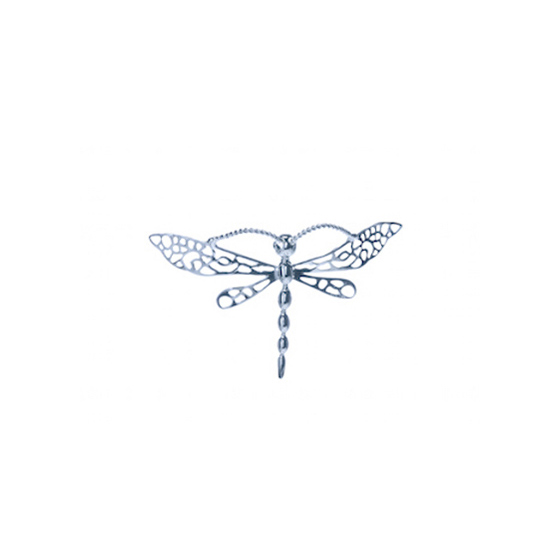 Sterling silver medium dragon fly pin