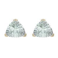 22 karat granulated earrings with amethyst