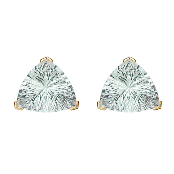 18 k gold Earrings with green amethyst