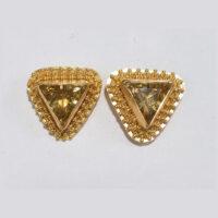 22 karat gold granulation , citrine gemstone (Sold)