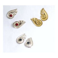 Athena earrings 18 karat gold or silver assorted stones