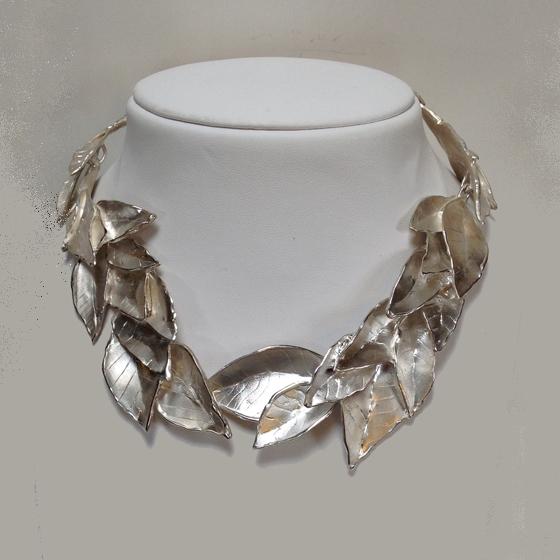 Leaf Necklace, sterling silver (#1165)