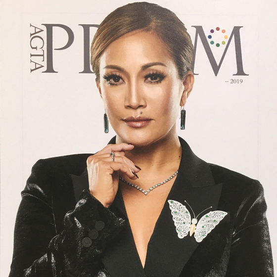Carrie Ann Inaba wearing Ice Butterfly